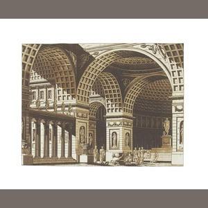 theatre design by Gaspare Galliari, Francesco Fontanesco, Pietro Gonzaga, Lodovico Pozzetti, and Alessandro Sanquirico, [Milan, c.1800-1820]