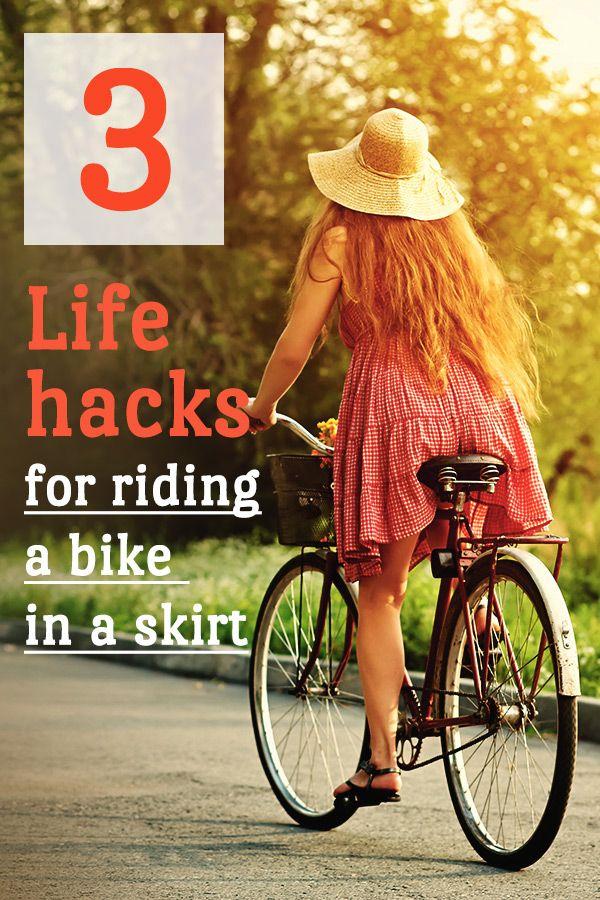 3 Life Hacks For Riding A Bike In A Skirt Bike Ride Bike Dress