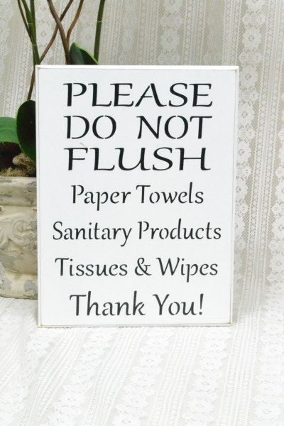 Please do not flush septic system sign by creativetouchwood ideas for vicki pinterest signs - Bathroom signs for septic systems ...