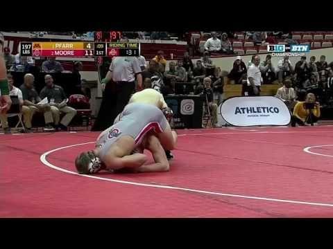 Pfarr vs. Moore - 197 LBs - Big Ten Wrestling Championship