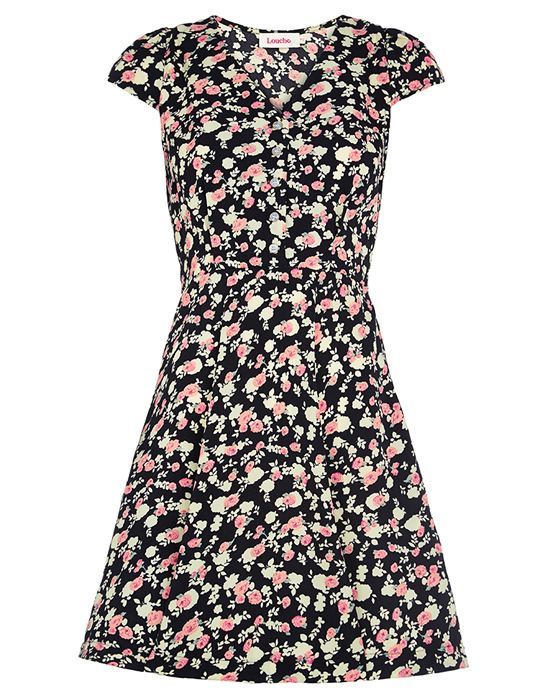 Vintage rose print dress by Louche at Aspire Style