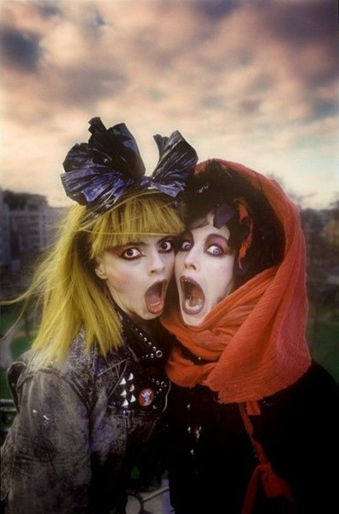 Nina Hagen & Lena Lovich  - Original Goth Girls ...thanks ladies for lighting the fire on that obsession