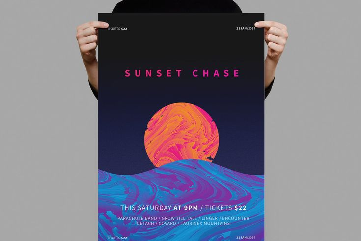 Sunset Chase Poster / Flyer