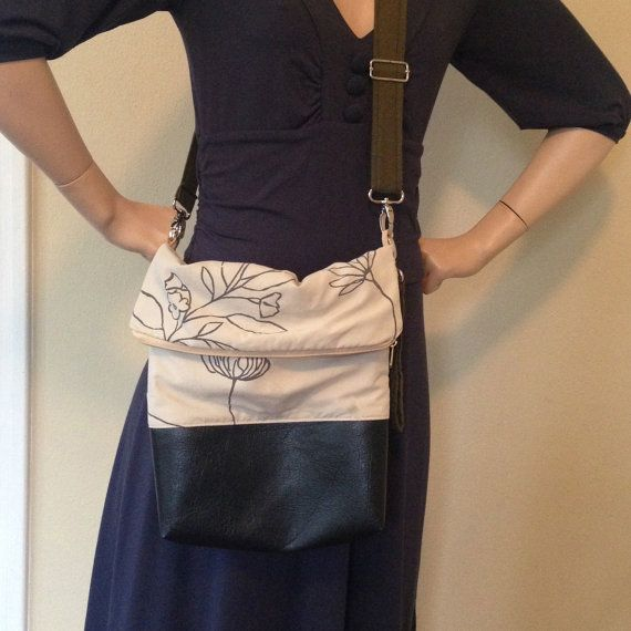 Dandelion Handbag  Faux Leather with detachable by sallyannk, $65.00