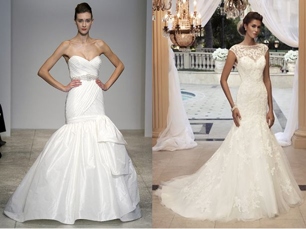 (i love the one on the right!) Wedding Dress Predictions: Jessica Simpson | WeddingWire: The Blog