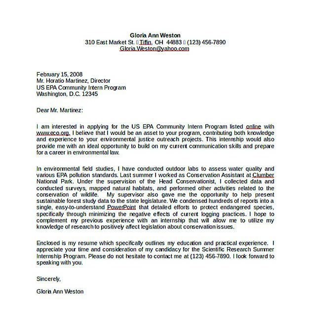 Internship Cover Letter Template Word Golon Wpart Co