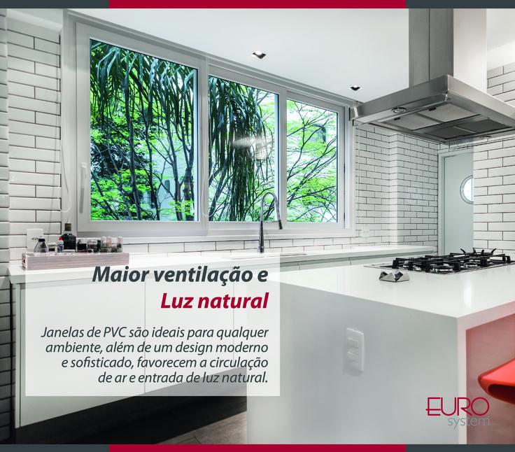 Janelas de PVC são ideais para qualquer ambiente, além de um design moderno e sofisticado, favorecem a circulação de ar e entrada de luz natural.  #Eurosystem #SoluçõesInteligentesParaSeuProjeto #EsquadriasdePvc #PorqueSeuProjetoMereceoMelhor