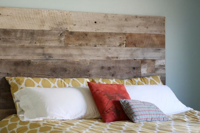 Diy Reclaimed Wood Headboard Bedroom Decor Pinterest