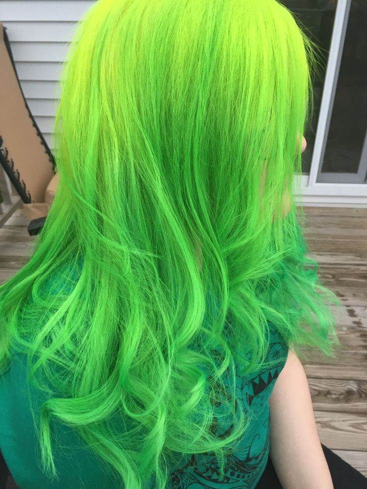 Pravana vivids- neon yellow melted into neon green | By Me ...