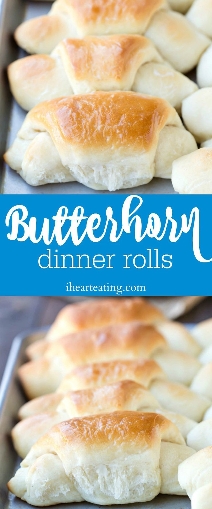 Butterhorn Dinner Roll Recipe - soft and sweet classic dinner rolls that are perfect for Easter dinner, Christmas dinner, or for Thanksgiving!