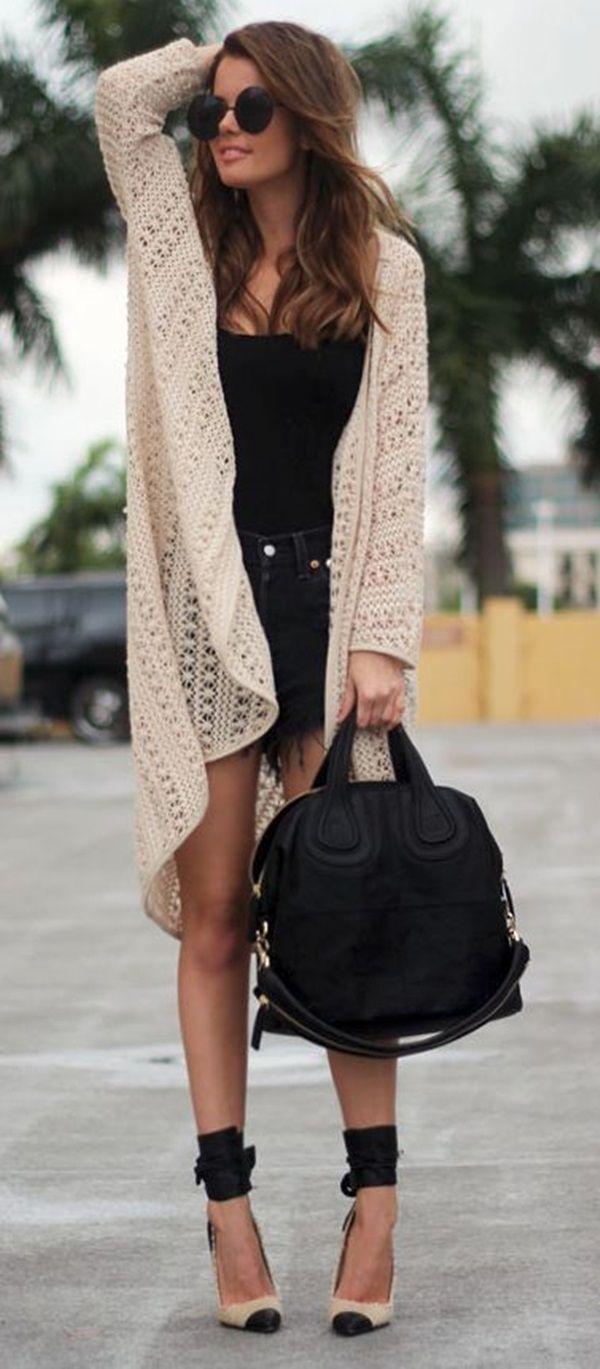 32 best long cardigans images on Pinterest | Trends, Black socks ...