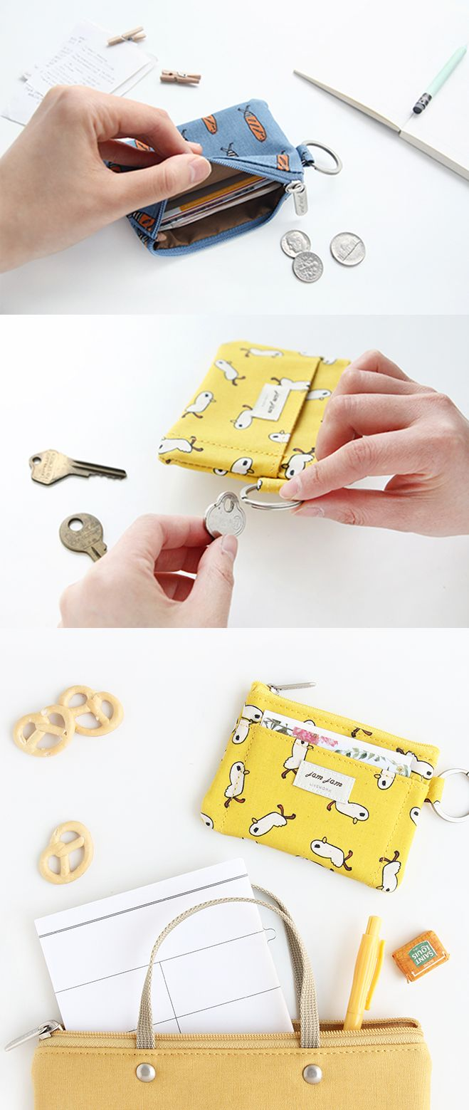 Never lose your ID or money again with this coin pouch that's just too cute to be true!