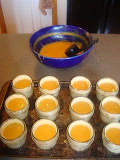 pumpkin pie in a jar- sealed for overseas care package.