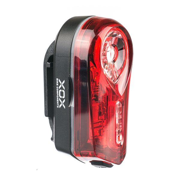 XOX supersvítivé světlo/blikačka zadní 0,5W/2f, černé