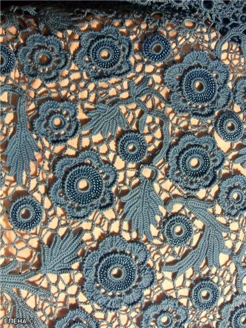 irish crochet, nice in this blue shades the idea s to crochet the motifs then pin them down and crochet the motifs together