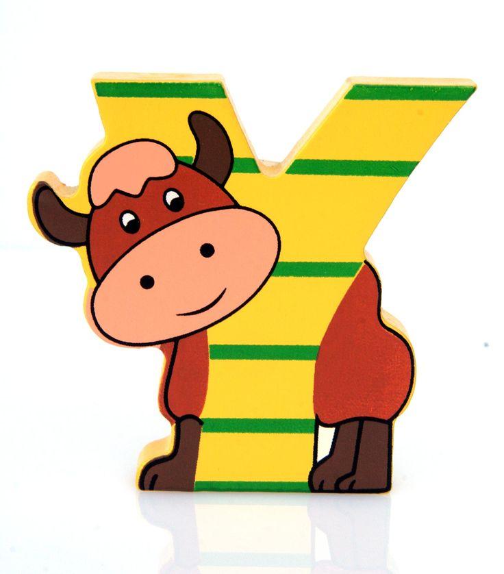 Simpatica lettera Y in Legno con l'aspetto di un Yak, per decorare e rendere più bella la cameretta componendo nomi, frasi. Sono disponibili tutte le lettere dell'alfabeto  Può essere appoggiata su una mensola oppure si puo' fissare con colla o biadesivo o possono anche essere utilizzate per giocare.  Dimensioni cm 6 x 7 x 1  Materiale: Legno.   I colori possono cambiare in base alle disponibilita'
