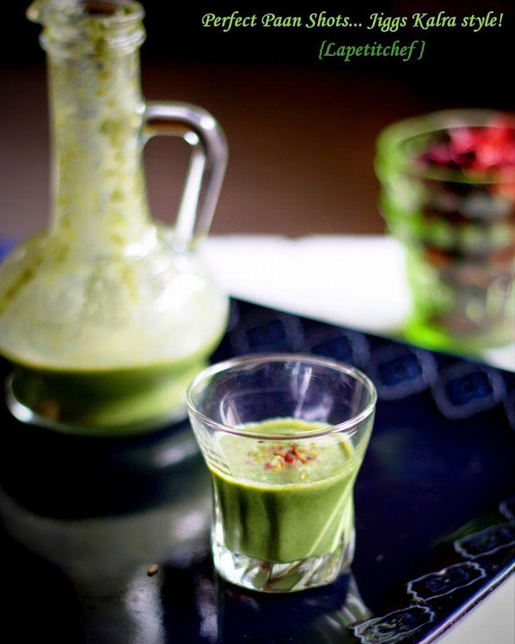 Diwali drinks...Paan Shots! - La Petit Chef