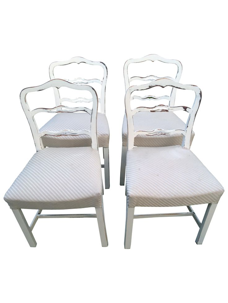 Shabby Chic Dining Chairs   Set Of 4