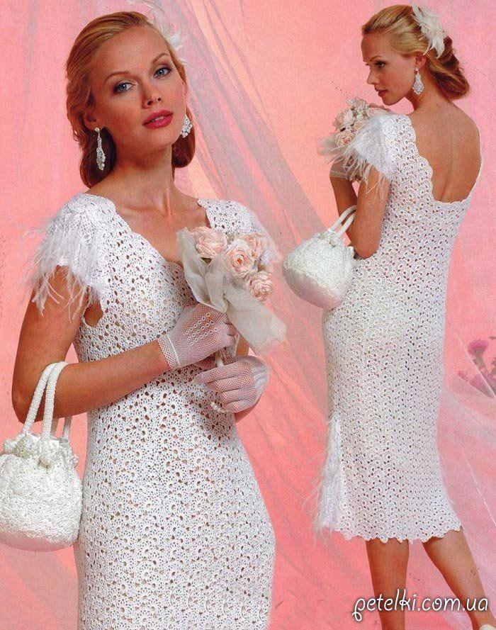 Платье в технике ленточного кружева (+ сумочка). Описание, схема, выкройка