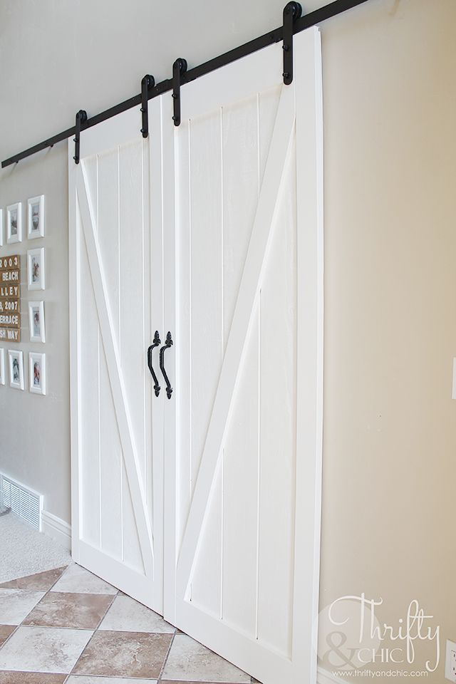 Diy Double Barn Door For The Home Closet Doors