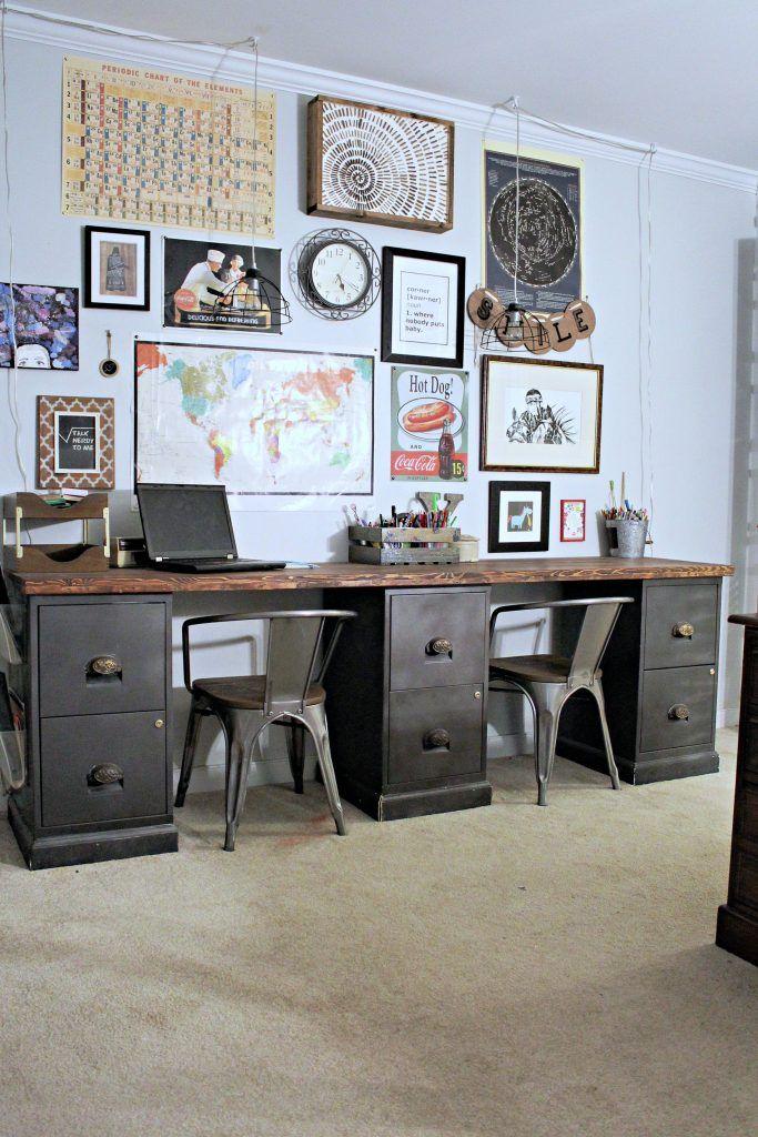 File Cabinet Desk Diy Home Office Diy Desk Repurpose Furniture File Cabinet Desk Diy Diy Office Desk File Cabinet Desk