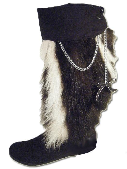 skunk fur boots-cool