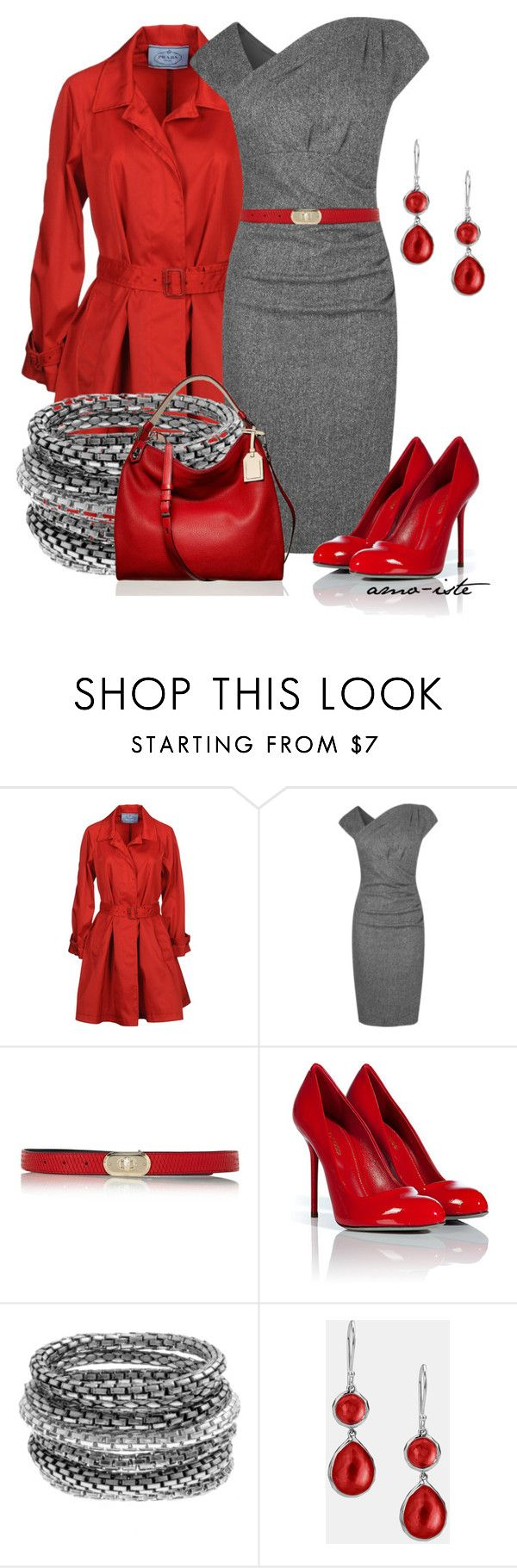 """""""Dress it Up"""" by amo-iste ❤ liked on Polyvore featuring Prada, L.K.Bennett, Karen Millen, Sergio Rossi, Ippolita and Reed Krakoff"""