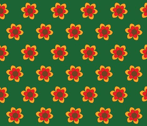 Retroflower fabric by mofje on Spoonflower - custom fabric