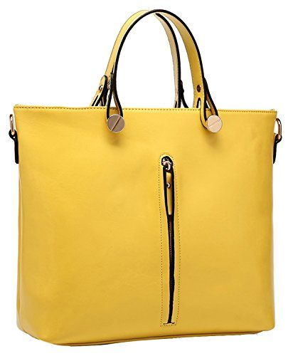 Heshe Fashion Women Genuine Leather Top-handle Tote