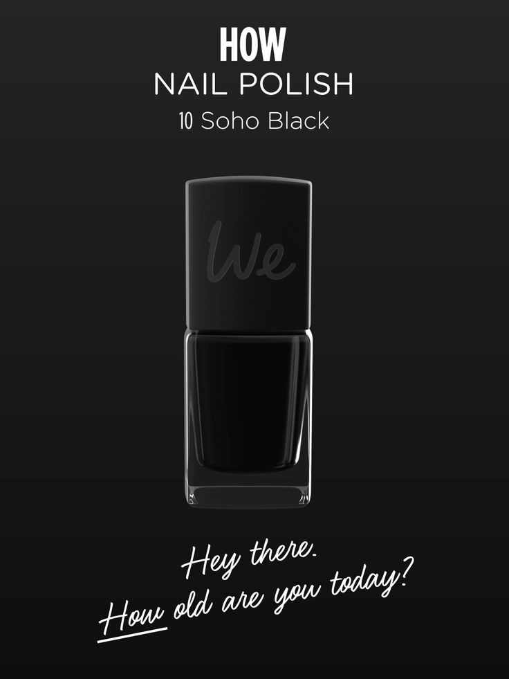 HOW | Nail Polish in Soho Black  Discover more on http://wemakeup.it/#HOW_nail_polish
