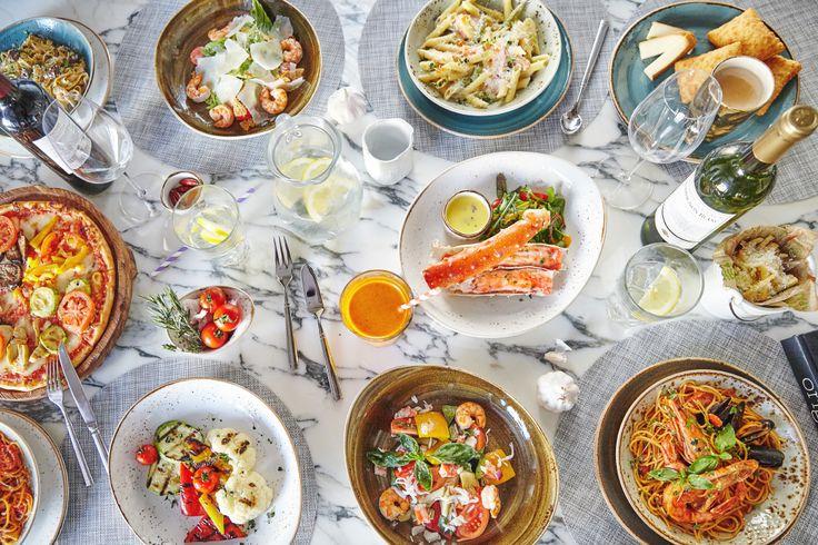 Съедобное великолепие #food #seafood #italy #pizza #pasta #crab #table #marble #ginzaproject #пряностинабелинского