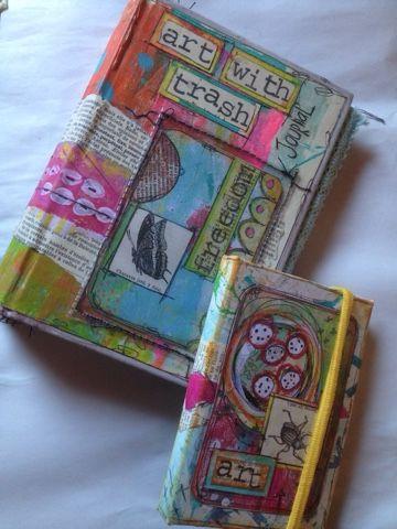 Het leuke aan journals maken is dat je er dubbel plezier aan beleeft. Het maken enerzijds en het gebruiken anderzijds. Mijn mini 'ATC only j...