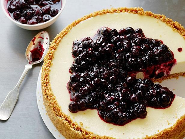 Recipe of the Day: Ultimate Cheesecake          This is the cheesecake to end ALL cheesecakes. Tyler tops the tangy, creamy base with a warm lemon-blueberry mix that will bring tears to your eyes.