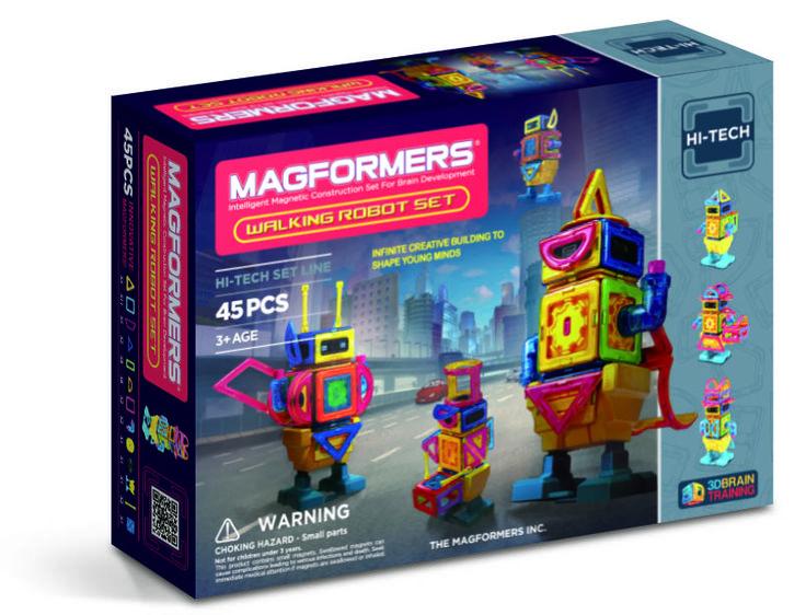 Magformers - 45 Pcs Walking Robot Set