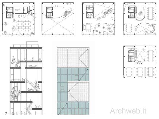 """bolboreta33: """"Proyecto: Shibaura House Office Building Situación: Shibaura, Tokyo, Japón Arquitecto: Kazuyo Sejima Año: 2011 """""""
