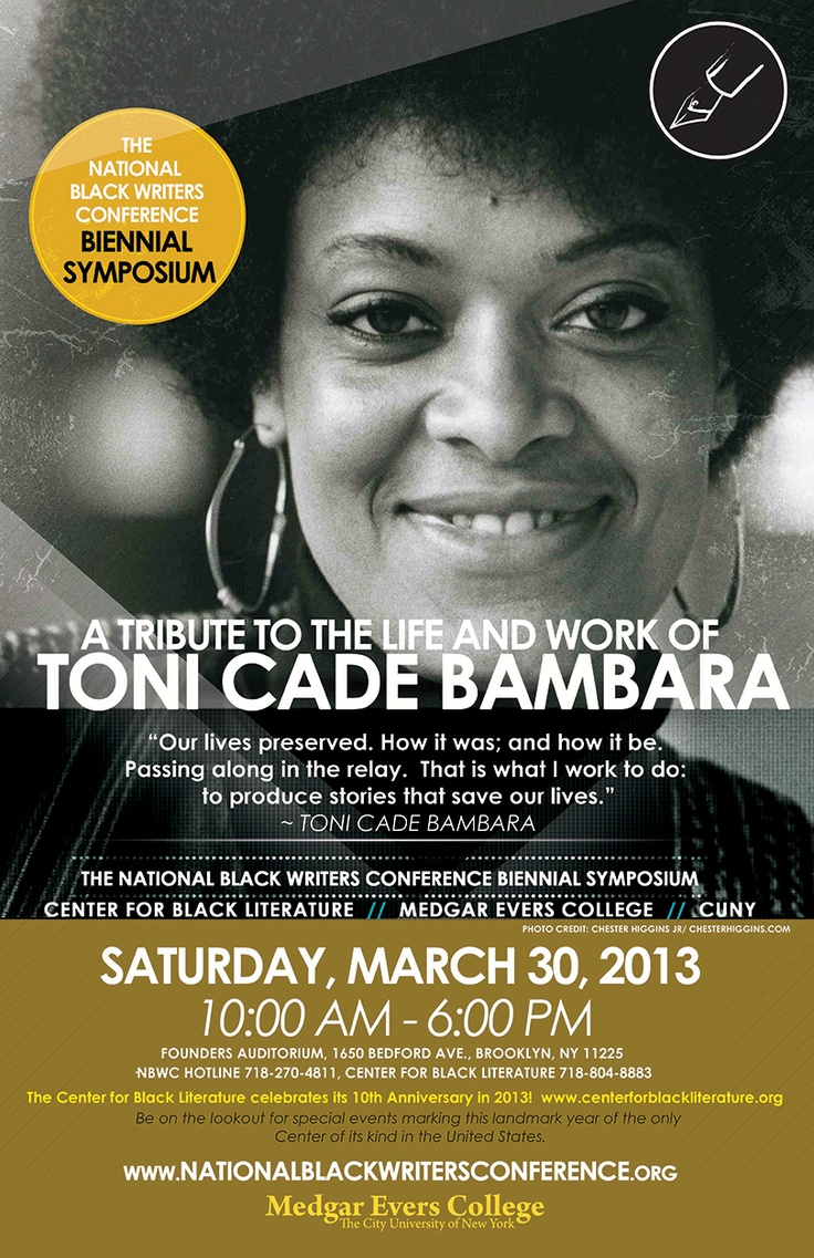 toni cade bambara The extraordinary spirit of toni cade bambara lives on insavoring the salt, a vibrant and appreciative recollection of the work and legacy of the multi-talented.