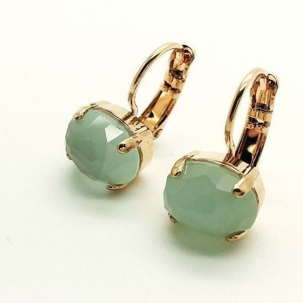 Mariana Jewelry Earrings Set Mineral Green Quartz (Syn)  Women Lever-back #Mariana #Leverback