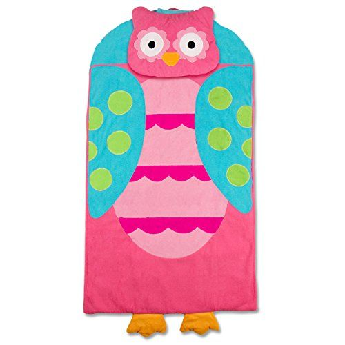 Stephen Joseph Preschool Nap Mat Teal Owl Josephs Soft Plush Features Attached Blanket And Pillow Insert May Be Removed To Wash