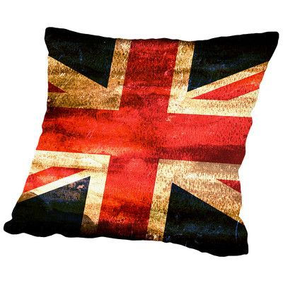 East Urban Home United Kingdom England Flag Throw Pillow Size: