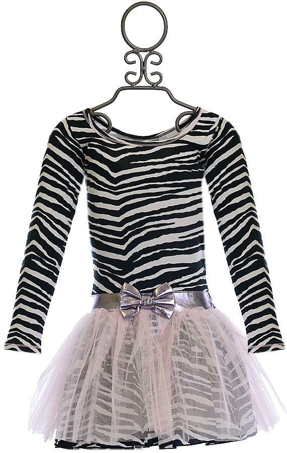 Ooh la la Couture Zebra Print Dress with Pink Tutu (2T & 3T)