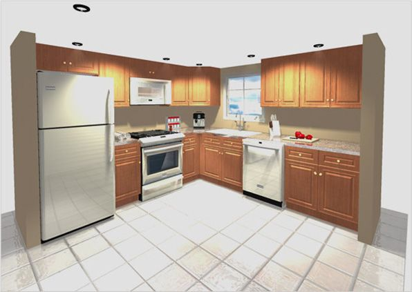 Superb 10x10 3D Kitchen Design Layout Part 24