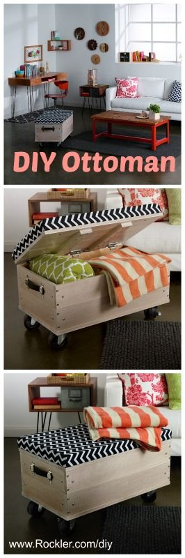 DIY easy ottoman woodworking project.
