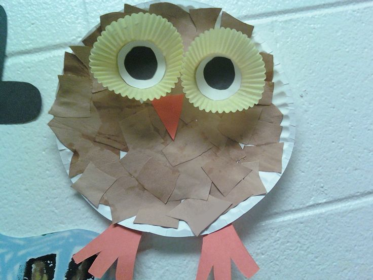Items needed: Paper plate, construction paper, 2 paper muffin cups, scissors, and glue. Cute and simple. Saw it at a local daycare.