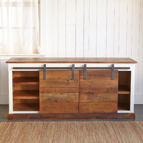 Sliding Barn Door Console Cabinet: 22 Best Buffet With Sliding Door Images On Pinterest