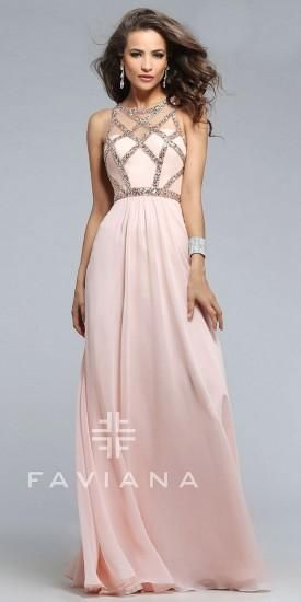 Jewelled Chiffon Prom Dress by Faviana  #dress #fashion #designer #faviana #edressme