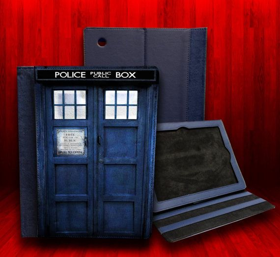 Dr Who Tardis Leather Case For iPad 2 iPad 3 and by CustomizeMeAz Okay yeah, I definitely want this for my ipad cause you know it's awesome..and I still don't have a case of any sorts.