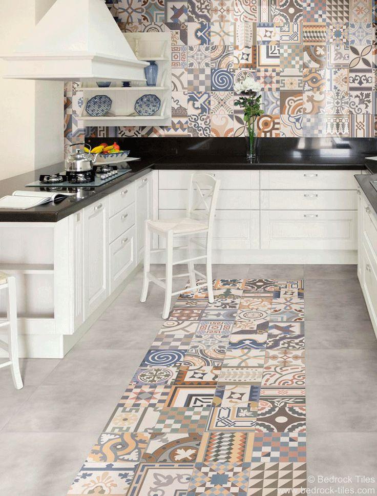 69 best Patterned Tiles images on Pinterest | Wall tiles, Bistros ...