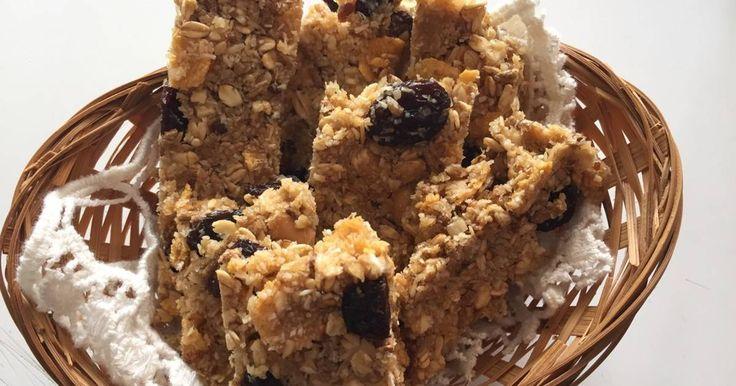 Fabulosa receta para Barritas de cereal caseras. Estas barritas de cereal…