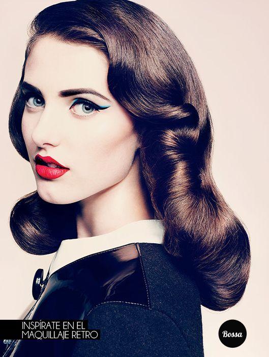 Inspírate en el maquillaje retro.