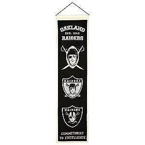 Oakland Raiders NFL Heritage Banner